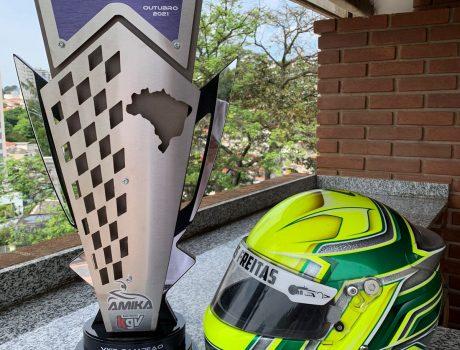 Lucas Freitas é vice-campeão de brasileiro de kart